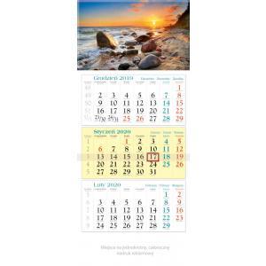 KT03 Kalendarz trójdzielny 2020 Wybrzeże