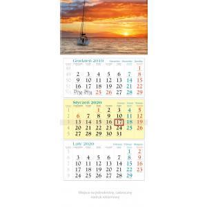 KT05 Kalendarz trójdzielny 2020 Łódka