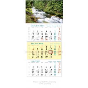KT06 Kalendarz trójdzielny 2020 Las