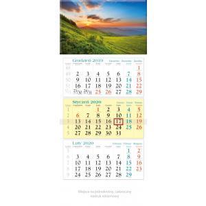KT09 Kalendarz trójdzielny 2020 Połonina