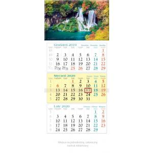 KT11 Kalendarz trójdzielny 2020 Kaskada