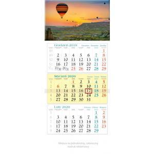 KT14 Kalendarz trójdzielny 2020 Balony