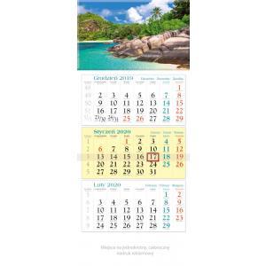 KT15 Kalendarz trójdzielny 2020 Tropiki