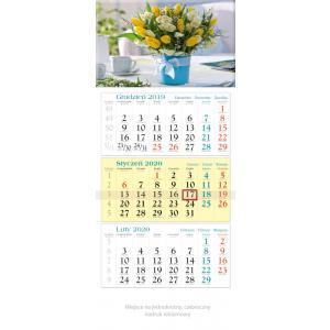KT16 Kalendarz trójdzielny 2020 Bukiet