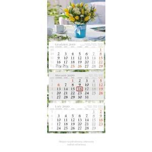KE04 Kalendarz trójdzielny 2020 Tulipany