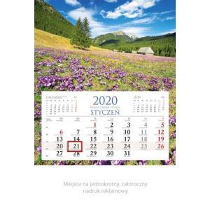 KM01 Kalendarz jednodzielny 2020 Góry
