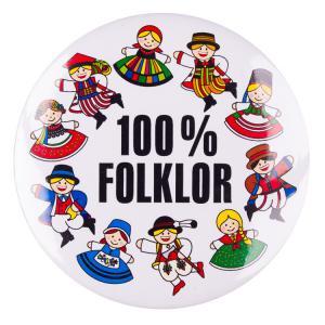 Przypinka mała 37 mm.100% folklor Folkstar