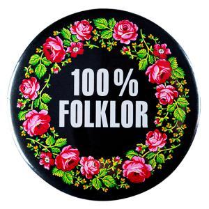 Przypinka duża 100% folklor góralski zielony Folkstar
