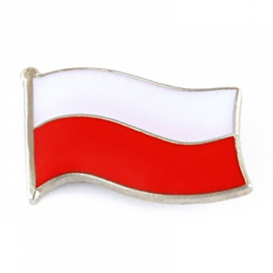 Pins Flaga Polski. Folkstar