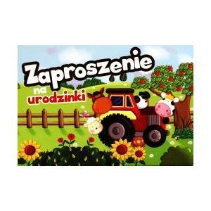 Zaproszenie ZZ-029. Urodziny. Traktor