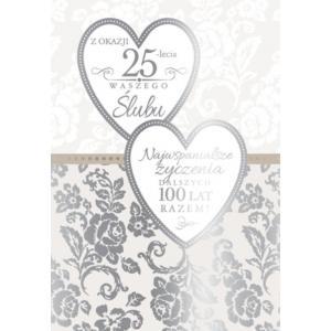 Karnet PP-1618 25 Rocznica ślubu