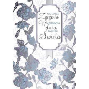 Karnet PP-1689 Wszystkiego najlepszego (kwiaty)
