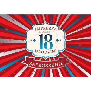 Zaproszenie ZZ-050 18 Urodziny