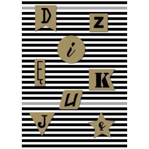 Karnet DK-544 Dziękuję - paski (Kropka kreska)
