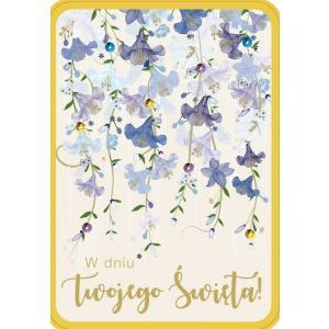 Karnet DK-553 W dniu Twojego święta (kwiaty)