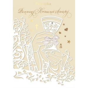 Karnet W Dniu Pierwszej Komunii Świętej QDK-082