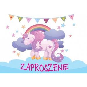 Zaproszenie ZZ-065 Jednorożec urodziny