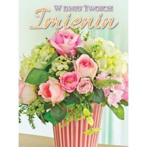 Karnet 3DV-113 Imieniny (kwiaty)