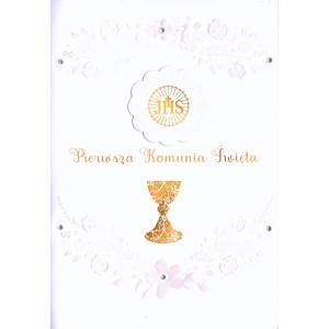 Pamiątka Pierwsza Komunia Święta Karnet Cartissimo CI-001