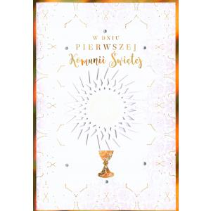 Pamiątka Pierwsza Komunia Święta Karnet Cartissimo CI-002