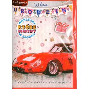 Karnet Urodziny (wymienne cyfry) Brokat DK-617