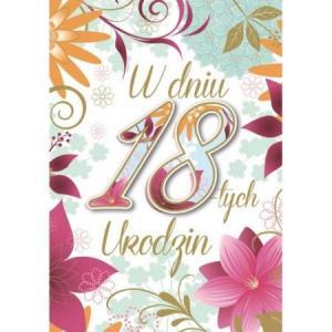 Karnet DK-618 Urodziny 18 (cyfry, osiemnastka)