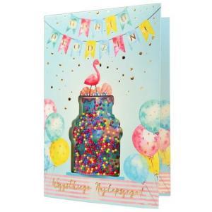 Karnet konfetti W dniu urodzin KNF-015