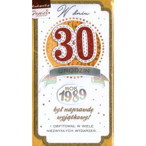 W Dniu 30 Urodzin Kartka Brokatowa PM-089