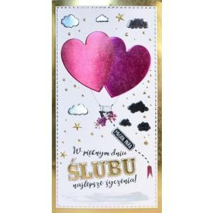 Karnet W pięknym dniu ślubu najlepsze życzenia PM-107