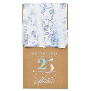 Karnet Gratulacje z okazji 25 rocznicy ślubu PM-114