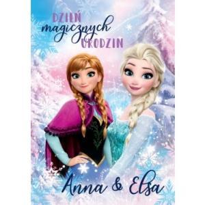 Karnet 3DS-004 Urodziny (Kraina Lodu, Anna i Elsa) 2019