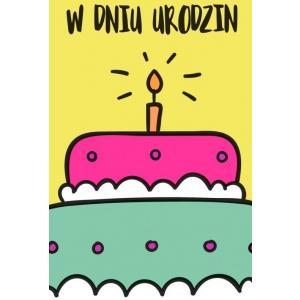 Karnet NN-001 Urodziny (tort) 2019