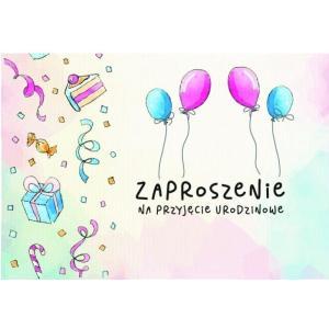 Zaproszenie ZZ-077 Ogólne - baloniki