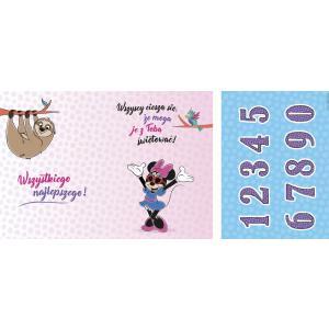 Karnet DSK-004 Urodziny (Myszka Minnie, leniwiec, wymienne cyfry) 2019