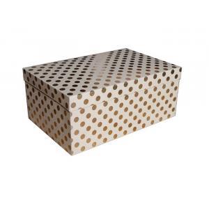 Zestaw pudeł PUDZ-051 Kropki (złote) (z006) 21,5 x 32,5