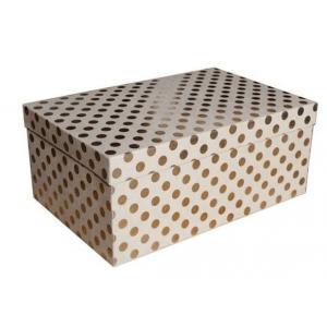 Zestaw pudeł PUDZ-053 Kropki (złote) (z006) 18,3 x 27,5