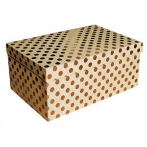 Zestaw pudeł PUDZ-054 Kropki (złote) (z006) 16,8 x 25,5