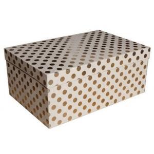 Zestaw pudeł PUDZ-055 Kropki (złote) (z006) 15,3 x 23,5
