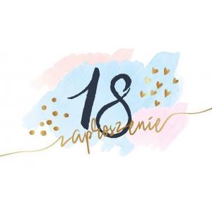 Zaproszenie PMZ-077 Urodziny 18 (osiemnastka) 2019