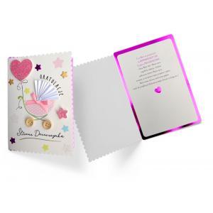 Karnet DK-781 Narodziny (śliczna dziewczynka)