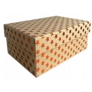 Zestaw pudeł PUDZ-065 Gwiazdki (miedź) (z007) 15,3 x 23,5