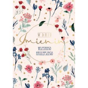Karnet PR-242 Imieniny (kwiaty)