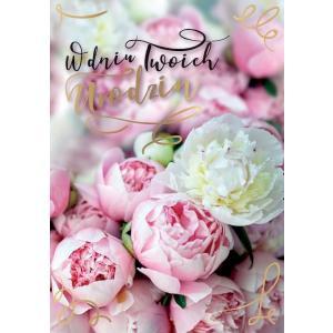 Karnet PR-243 Urodziny (kwiaty)