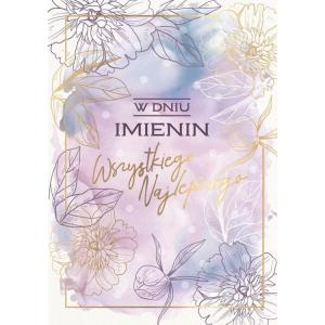 Karnet PR-248 Imieniny (kwiaty)