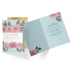 Karnet PR-255 Imieniny (kwiaty)