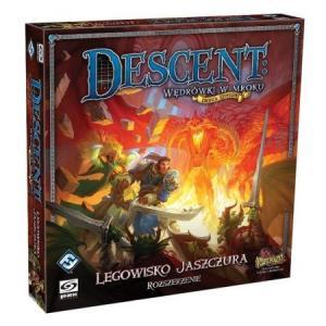 Descent: Wędrówki w Mroku (Druga Edycja). Legowisko Jaszczura. Dodatek do Gry Planszowej