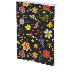 Kalendarz Nauczyciela 2017/18 B6 Tygodniowy Bezbarwny PCV Kwiaty
