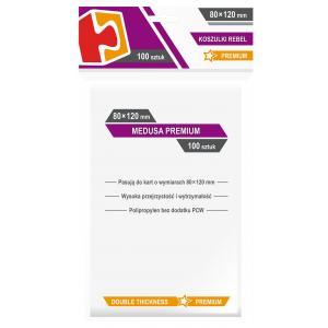 Koszulki na karty Rebel (80x120 mm) Medusa Premium 100 sztuk