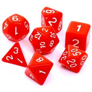 Komplet kości RPG - Matowe Czerwone