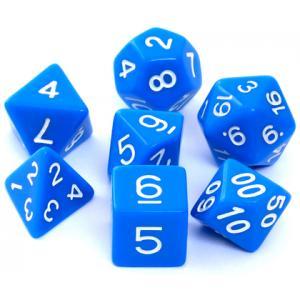 Komplet kości RPG - matowe niebieskie